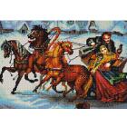 Рисунок на ткани «Конек 9767  Тройка лошадей» 29*39 см