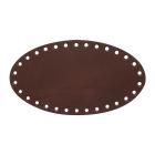 Заготовка для декора №504 кожа 100% донышко 12,2*22 см, 541018 св.коричневый