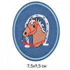 Заплатки термо-клеевые TEP.RO.14 « Лошадь» 7,5*9,5 см