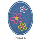 Заплатки термо-клеевые TEP.RO.16 «Три цветочка» 7,5*9,5 см