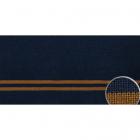 Подвяз трикотажный п/э ГД15043 13*125 см темно-синий/горчица