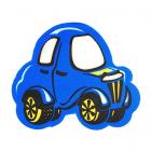 Световозвращающий значок 505807 «Машинка» 50 мм син. 902214