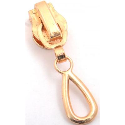 Замок авт. Т5 на спираль «капля» (уп. 50 шт.) золото в интернет-магазине Швейпрофи.рф