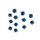 Стразы пришивн. «Астра»  4 мм в цапах/серебро 4AR159/166 хруст. (уп 50 шт) 7727639 25 синий