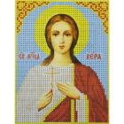 Рисунок для вышивания бисером Каролинка КБИ-5015  «Св. Вера»  13*18 см