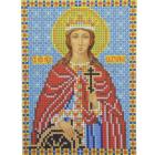 Рисунок для вышивания бисером Каролинка КБИ-5057  «Св. Екатерина»  12,5*16,5 см