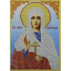 Рисунок для вышивания бисером Каролинка КБИ-5058  «Св. Муч.Евгения»  12*16,5 см