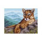 Рисунок на канве МП (28*34 см) 1110 «Пума в горах» (снят)