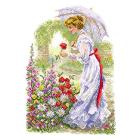 Рисунок на канве МП (37*49 см) 1700 «Дама в саду»
