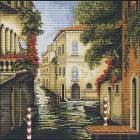 Набор для вышивания Luca-S В240 «Венеция в цветах» 28*28 см