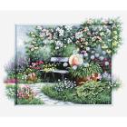 Набор для вышивания Luca-S ВU4012 «Цветущий сад» 32,5*44,5 см