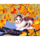 Набор для вышивания Нитекс 2001 «Кошечка на ветке» 42*30 см
