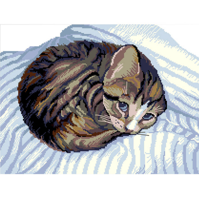 Набор для вышивания Нитекс 2081 «Котик» 48*33 см в интернет-магазине Швейпрофи.рф