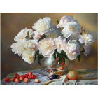 Набор для раскрашивания Molly KK0040  «Натюрморт с белыми пионами» 30*40 см