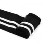 Подвяз трикотажный п/эTBY73013 черный с белыми полосами 14*100 см