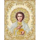 Рисунок для вышивания бисером Благовест ЖС-3015 «Святой Пантелеймон в жемчуге» 28,5*35,5 см