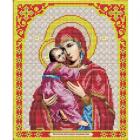Рисунок для вышивания бисером Благовест И-4017 Богородица Владимирская 20*25 см