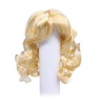 Волосы для кукол AR906 d10 см длина 10 см  см парик (кудри) св.блонд