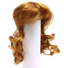 Волосы для кукол AR906 d10 см длина 10 см  см парик (кудри) св.коричневый