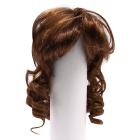 Волосы для кукол AR906 d10 см длина 10 см  см парик (кудри) т.коричневый