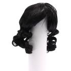 Волосы для кукол AR906 d10 см длина 10 см  см парик (кудри) черный
