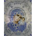 Рисунок для вышивания бисером Благовест ЖС-3001 «Казанская в жемчуге» 27,5*35,5 см