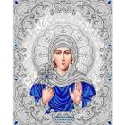 Рисунок для вышивания бисером Благовест ЖС-3012 «Святая Ксения в жемчуге» 27,5*35,5 см