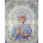 Рисунок для вышивания бисером Благовест ЖС-3014 «Матрона Московская в жемчуге» 27.5*35.5 см