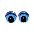 Глаза «круг» с ресницами 406-4001 20 мм синий