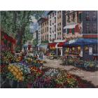 Алмазная мозаика Кристалл на дер.осн. GZ014 «Улицы Парижа» 50*40 см