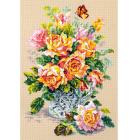 Набор для вышивания Чудесная Игла  №100-021 «Чайные розы» 24*34 см