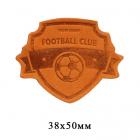 Термоаппликация Футбол 3,8*5 см дизайн №13 100% кожа оранжевый