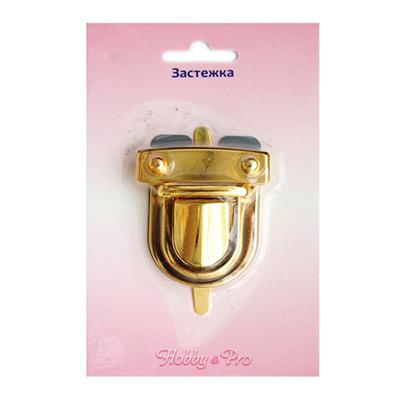 Замок портфельный 36*50 мм (блистер) золото в интернет-магазине Швейпрофи.рф