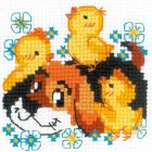 Набор для вышивания Риолис №1840 «Дружок» 10*10 см