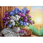Алмазная мозаика АЖ-1819  «Сирень у окна» 50*70 см