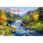 Алмазная мозаика АЖ-1821  «Горный ручей» 40*60 см