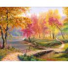 Алмазная мозаика АЖ-1822  «Осень в старом парке» 40*50 см