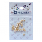 Бусины Crystal Preciosa 131-10-011 Хрустальный жемчуг 4 мм (уп 25 шт) крем