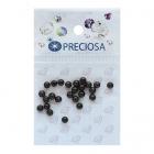 Бусины Crystal Preciosa 131-10-011 Хрустальный жемчуг 4 мм (уп 25 шт) черный