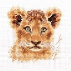 Набор для вышивания Алиса 0-194 «Животные в портретах. Львенок » 8*8 см