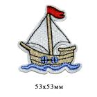 Термоаппликация LА172 «Кораблик» 53*53 мм (10)