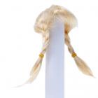 Волосы для кукол AS16-17 5*10  см парик (косички) блонд