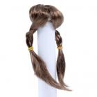 Волосы для кукол AS16-17 5*10  см парик (косички) коричневый