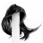 Волосы для кукол AS16-19 5*15  см парик (прямые волосы) черный