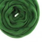 Шерсть для валяния полутонкая  (уп. 100 г) Троицк 3664 св.зеленый