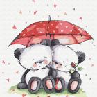 Набор для раскрашивания Molly KH0443  «Медвежата под зонтом» 20*20 см