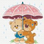 Набор для раскрашивания Molly KH0446  «Медвежата в летний день» 20*20 см