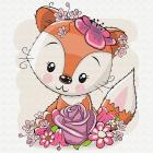 Набор для раскрашивания Molly KH0456  «Лисёнок в цветах» 20*20 см