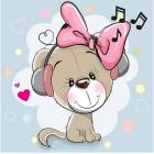 Набор для раскрашивания Molly KH0469  «Щенок-музыкант» 20*20 см