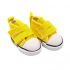 Обувь для игрушек (Кеды) 25247  5,0 см  выс.3,3 см на 2-х липах жёлтый (1 пара)